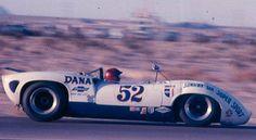 Peter Revson in the Dana Lola T70 MK3 Chevrolet at Las Vegas In 1967. photo from Jonesy Morris