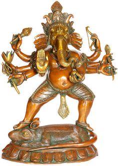 Ashtabhuja-dhari Yuddha Ganesha the Spiritual Warrior RS25