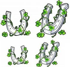 Horseshoes and clovers