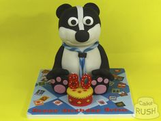 Custom cakes made in Cheshunt Badger, Custom Cakes, How To Make Cake, Desserts, Food, Personalized Cakes, Tailgate Desserts, Deserts, Personalised Cake Toppers