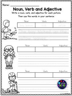 Adjectives Printable Worksheet Pack - Kindergarten First Second ...