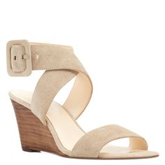 b5a43bc3c4f Jem open-toe wedges at Nine West. Crisscrossing straps and a large buckle  top