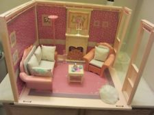Vintage barbie by Mattel living room with furniture