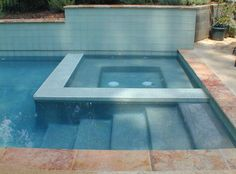 Image result for luxury pool stairs