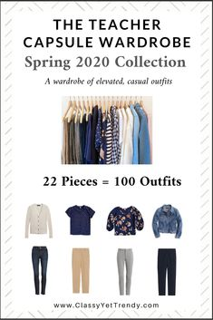The Teacher Capsule Wardrobe Spring 2020 Preview + 10 Outfits - Classy Yet Trendy Capsule Outfits, Fashion Capsule, Travel Outfits, Travel Packing, Plus Size Capsule Wardrobe, Core Wardrobe, Wardrobe Ideas, Classy Yet Trendy, Plus Size Fashion