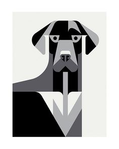 Minimal black&white illustration by Josh Brill 'Canine' #illustration #design #graphicdesign