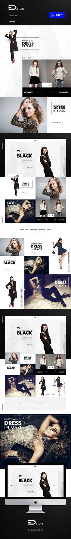 Fashion Shop Free PSD Template   uihive