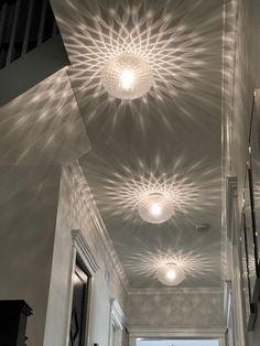Rustic Italian Home Hallway Lighting, Home Lighting, Lighting Design, Hallway Ceiling Lights, Ceiling Decor, Kitchen Lighting, Tower Light, Deco Luminaire, Ceiling Light Design