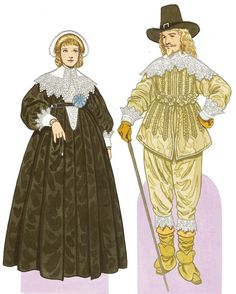 1650 middle class people | History of Costume | European Fashion Through the Ages