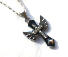 Gothic Cross Stainless Steel . Starting at $6 on Tophatter.com!