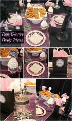 Teen Dinner Party Ideas - fun tips for planning a birthday party for teens
