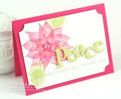 Peace by Nichole Heady for Papertrey Ink (October 2011).