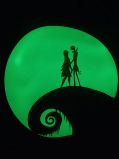 Jack and Sally Nightmare Before Christmas Inspired Glow in the Dark Shirt - Man's Shirt