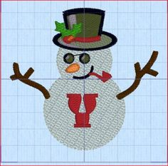 Snowman Alphabet A-Z - Darling Designs 4 U