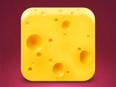 iOS cheese icon.
