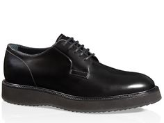 Hogan Route X H271 in black glossy leather derbies - Italian Boutique €234  Men s Sneakers a994748731b