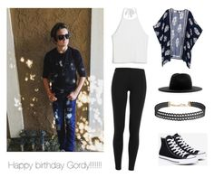 """""""Happy birthday Gordy love you bro!!!!"""" by vivian-lynch ❤ liked on Polyvore featuring Monki, Études, Humble Chic, Polo Ralph Lauren and Converse"""