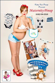 Maternity pinup! Great idea!! Is a great photo shoot idea once I know some preggo girls!