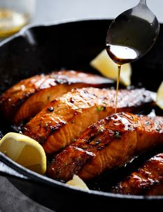 BROWNED BUTTER HONEY GARLIC SALMON #food #foodporn #recipe #cooking #recipes #foodie #healthy #cook #health #yummy #delicious