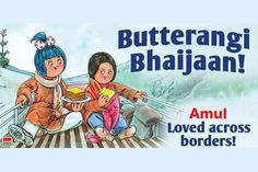 Look how Amul girl did a Salman Khan