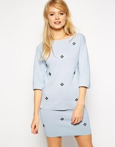 ASOS Co-ord Embellished Top in Knit