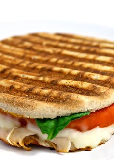Starbucks Turkey Rustico Panini Made Skinny. I love this sandwich at Starbucks and decided to make a NEW skinny, home version. Each panini has 278 calories, 8 grams of fat, 7 Weight Watchers POINTS PLUS. And it's really delicious! http://www.skinnykitchen.com/recipes/starbucks-turkey-rustico-panini-made-skinny/