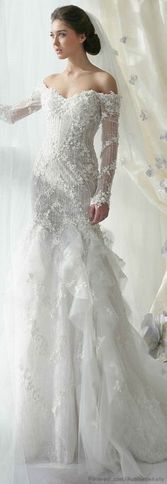 Wintery wedding dress