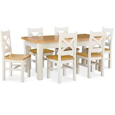 Global Home Cuisine Painted Dining Set - Small Extending with 6 Chairs Buy Dining Table, Oak Dining Room, Extendable Dining Table, Dining Room Furniture, Dining Set, Outdoor Furniture Sets, Wooden Furniture, Global Home, Kitchen Sets