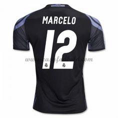 Fodboldtrøjer La Liga Real Madrid 2016-17 Marcelo 12 3. Trøje