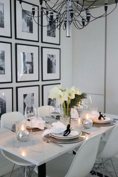 tisch skandinavisch Harmony white wine glasses made of smooth crystal glass, set of 6 Skandinavisch Modern, Filigranes Design, White Elegance, White Wine Glasses, Dining Room Table Chairs, Christmas Interiors, Amazing Decor, Take A Seat, Houses