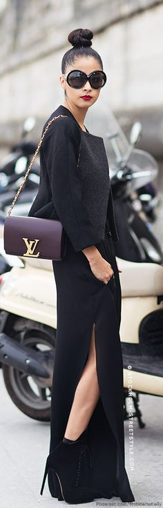 Ditch the bag and the outfit is on point, I just don't like signature/designer names on everything.