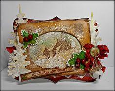 Rainey's Craft Room: Christmas Card Club Challenge #10 - Village Scene