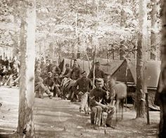 Petersburg, Virginia. Camp of companies, C & D, 1st Massachusetts Cavalry