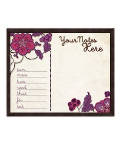 Take a look at this Violets 'Your Notes Here' Memo Board by PTM Images on #zulily today! $29.99, usually 80.00