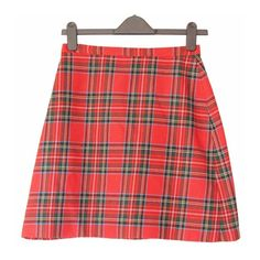 90s plaid skirt, red tartan high waist rise checkered mini trapeze... ($28) ❤ liked on Polyvore featuring skirts, mini skirts, bottoms, a-line skirt, high waisted skirts, red skirt, high waisted plaid skirt and plaid mini skirt