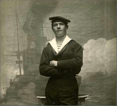 Vintage Sailor, painted backdrop