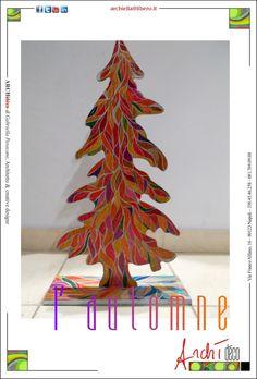 Silhouette albero in faggio cm 30x55x1 decorato a mano: tecnica mista pastello e vernice argento. info archiella@libero.it facebook me Archì déco
