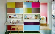 mfsystem. Alles in bunter Ordnung. Storage Shelves, Shelving, Shelf, Kid Spaces, Sliding Doors, Bunt, Office Desk, Bookcase, Cabinet
