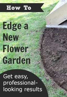 Outdoor Decorating/Gardening : Create amazingly beautiful flower beds in your yard this spring with one easy tip. Here's how to edge a flower bed quickly and easily and have your own professional-looking gardens to enjoy. -Read More – Garden Yard Ideas, Lawn And Garden, Herb Garden, Garden Beds, Easy Garden, Backyard Ideas, Garden Edging, Lawn Edging, Landscape Edging