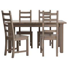 STORNÄS/KAUSTBY Tavolo e 4 sedie - grigio tortora - IKEA