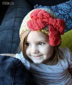 Persia Lou: Multi-Strand Big Bow Hat: Crochet Pattern @Sue Smith