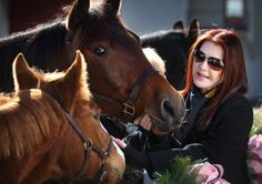 "During the yearly birthday ceremony for Elvis fans on Jan. 8, 2009, marking what would have been The King's 74th birthday, Priscilla Presley introduces Max and Bandit, left, a pair of rescue horses that Graceland recently adopted. ""Graceland is a living breathing home,"" says Presley, and she wants ""to keep it the way Elvis left it,"" including the barn and horses that were a part of life with Elvis."