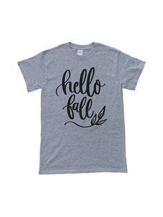 a2d64cb6bd Hello Fall T-Shirt Mens Shirt Womens Shirt Autumn Slogan Tee, Tee Shirts,