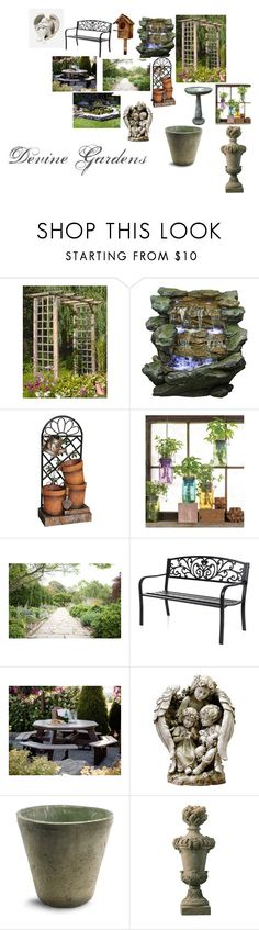 """""""Devine Gardens"""" by monique-anne-cook on Polyvore featuring interior, interiors, interior design, home, home decor, interior decorating, Yosemite Home Décor, Universal Lighting and Decor, Modern Sprout and DutchCrafters"""