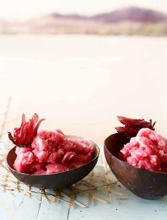 #rosehip #hibiscus #sorbet