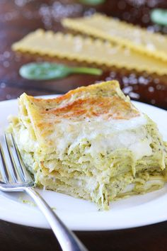 This lasagna is basically like someone took a delicious, creamy spinach artichoke dip and layered it with cheese and pasta. Then baked it til it was warm and bubbly. It's SO good!! Perfect for company!