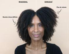La différence entre le rhassoul et shikakaï - cheveux crépus