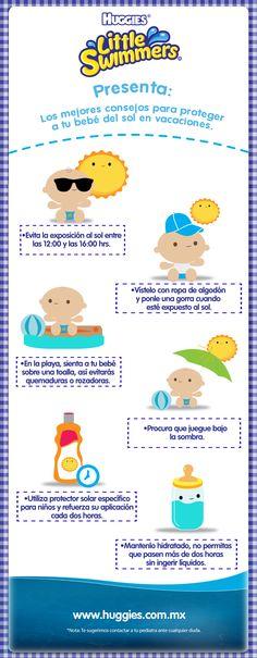 En estas vacaciones, cuida la delicada piel de tu bebé del sol. Protégelo con estas sencillas recomendaciones.