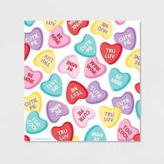 Creative Converting Candy Hearts Valentine's Day Favour Bags With Zipper, 40 Count Valentines Day Hearts Candy, Valentines Day Party, Valentine Day Cards, Valentine Crafts, Valentines Day Drawing, Diy Cards, Homemade Cards, Favor Bags, Decoration