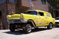 56 Chevy Gasser   ran 8:80 in 8th mile, Olds rear end, 513 spool, 57 Chevy truck front ...